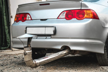 Ridiculous Exhaust Pipe On The Car