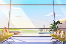 Cartoon Airport Terminal Loung...