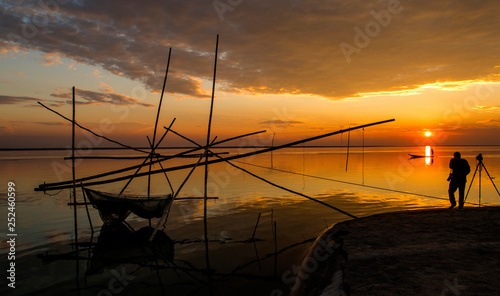 Photo Sunset on the Brahmaputra