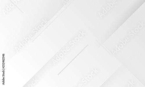 Fotografía  Minimal geometric white light background abstract design