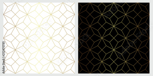 Foto op Aluminium Kunstmatig Star seamless vector pattern with wilth geometric line