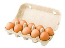 Chicken Eggs, Ten, In Paper Bo...