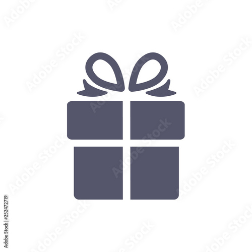 Obraz Gift box, present icon isolated on the white background - fototapety do salonu