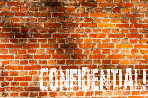Fotografía  Word writing text Confidential