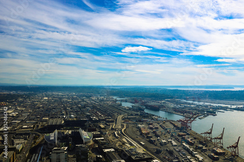 Photo  Seattle, USA, August 31, 2018: The Port of Seattle, USA.