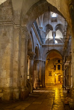 Jerusalem, Palestine, Israel-August 14, 2015: Church Of The Holy Sepulchre. Old Town.