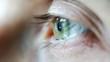 Cornea of a Green Light Colored Eye Side View