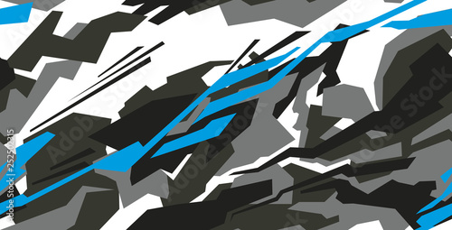 Fotografie, Obraz  Car decal wrap design vector