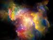 canvas print picture - Cosmic Paint.