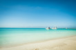 Paradise beach with turquoise blue water