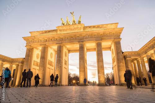 In de dag Berlijn Brandenburg Gate