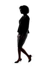 Silhouette Of A Black Business...