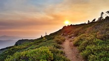 Colorful Sunrise On The Pacific Crest Trail In Southern California Near Agua Dulce