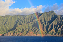 Napali Coast With Rainbow