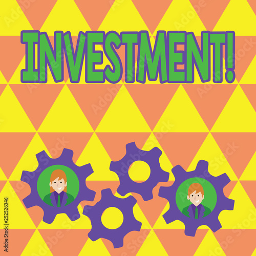adc6c37863f80 Word writing text Investment. Business concept for To put Money Time ...