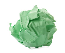 Colorful Crumpled Sheet Of Pap...