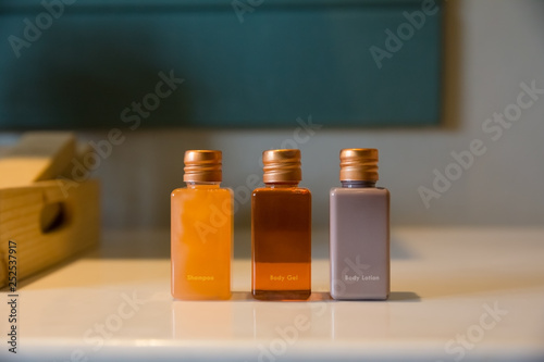 Photo bathroom amenity set