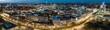 canvas print picture - Panorama von Hannover Innenstadt an einem Abend bei schönen Wetter