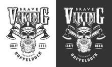 Viking Skull In Horned Helmet ...