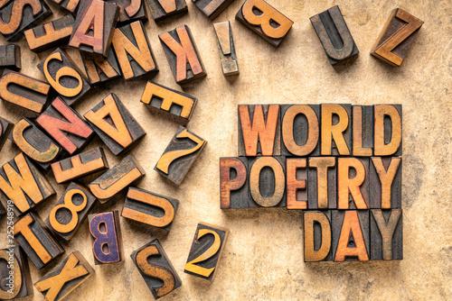 Fototapety, obrazy: world poetry day