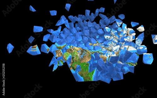 Photo sur Toile Animaux geometriques 地球