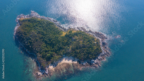 Foto auf AluDibond Blau türkis Ko Kaeo Yai Aerial island Aerial view,Thailand