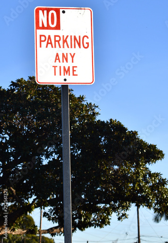 Papiers peints Route 66 no parking any time sign with tree