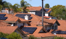 Solar Panels On Rooftops In Ca...