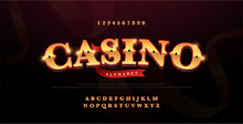 Casino Luxury 3d Alphabet Gold...