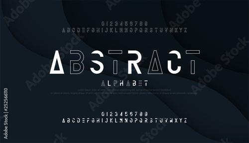 Photo  Abstract thin line font minimal alphabet