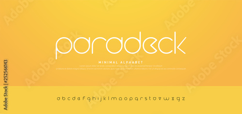 Fotografía  Minimal modern urban alphabet fonts