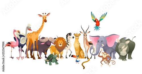 Wild animals Wallpaper Mural