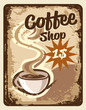 background with cup of coffee vintage