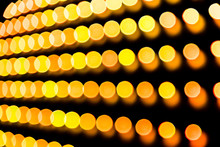 Rows Of Intentionally Defocused Lights For A Bright High Tech Abstract Background