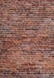 Leinwanddruck Bild - old red brick wall texture