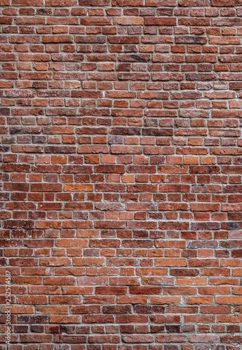 Fotomural  old red brick wall texture
