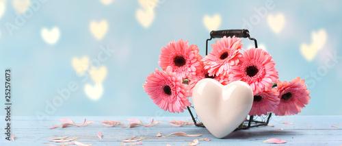 Valokuvatapetti Frühlingsgruß mit Blumen