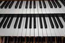 Church Organ Double Keyboard Detail