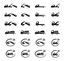 auto pomoc zestaw ikon