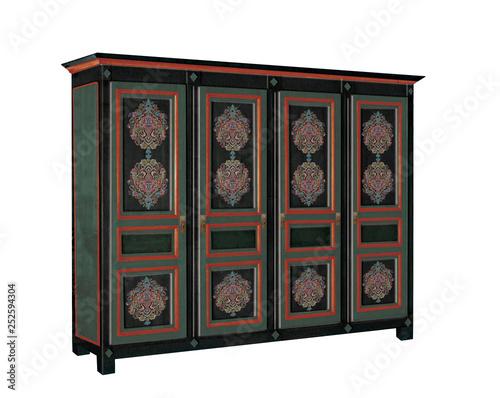 meuble peinte , bois, mobilier, bois, vieux, blanc, isolé, antique ...