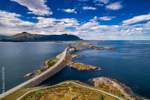 Canvas Atlantic Ocean Road aerial photography.