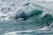 Surf Breaking along the North Cornish Coast, Fistral Beach, Newquay, Cornwall