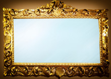 Antique Mirror With Frame