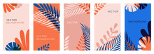 Vector Set Of Abstract Backgro...