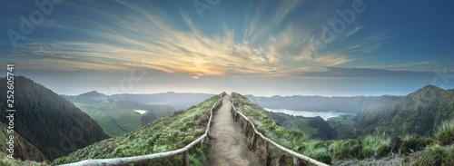 Keuken foto achterwand Natuur Mountain landscape Ponta Delgada island, Azores Portugal