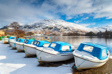 Boats On Ulswater In The Snow
