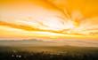 View on sunrise over the foggy jungle from Pidurangala Rock in Sri lanka
