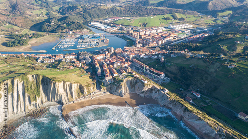 Deurstickers Nice aerial view of basque country coastline at zumaia