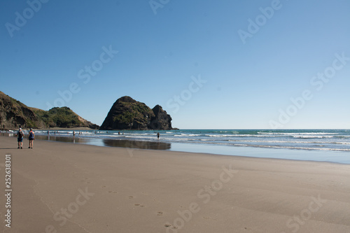 Fotografia, Obraz  Piha Beach at the east coast of Auckland, New Zealand