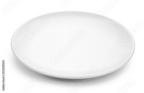 white plate isolated on a white background Fototapeta